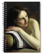 Penitent Magdalen Oil On Canvas Spiral Notebook