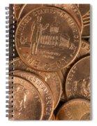 Pennies 8 Spiral Notebook