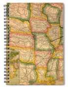 Pennsylvania Railroad Map 1879 Spiral Notebook