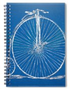 Penny-farthing 1867 High Wheeler Bicycle Blueprint Spiral Notebook