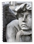 Pensive Angel Detail Monumental Cemetery Milan Italy Spiral Notebook
