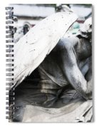 Pensive Angel Monumental Cemetery Milan Italy Spiral Notebook