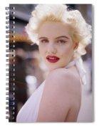 Beauty Of Marilyn Monroe Spiral Notebook