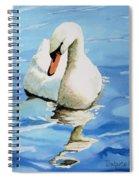 Pensive Swan Spiral Notebook
