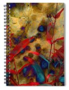 Penstemon Abstract 2 Spiral Notebook