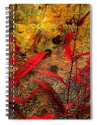 Penstemon Abstract 5 Spiral Notebook