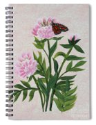 Peonies And Monarch Butterfly Spiral Notebook