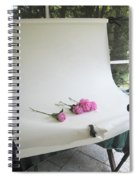 Peonies And Paper Backdrop Spiral Notebook