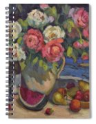 Peonies And Summer Fruit Spiral Notebook