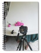 Peonies And Tripod Spiral Notebook