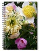 Peonies Bouquet Spiral Notebook