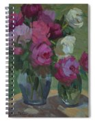 Peonies In The Shade Spiral Notebook