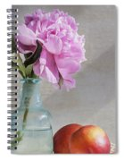 Peony Blue Bottle And Nectarine Spiral Notebook
