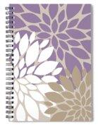 Peony Flowers Spiral Notebook