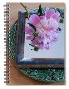 Peony Square Circle Sora's Flower Spiral Notebook