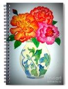 Peonys In Vase Spiral Notebook