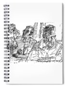 People At The Cafe Spiral Notebook