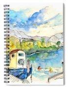 People Bathing In Barca De Alva Spiral Notebook
