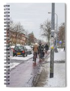 People On Bicycles In Winter Spiral Notebook