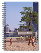 People Playing Beach Volleyball Spiral Notebook