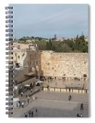 People Praying At At Western Wall Spiral Notebook