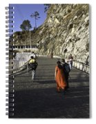 People Walking On The Path Leading To Shrine Of Vaishno Devi Spiral Notebook