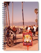 People Walking On The Sidewalk, Venice Spiral Notebook