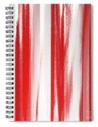 Peppermint Stick Abstract Spiral Notebook