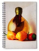 Peppers And Oil Spiral Notebook