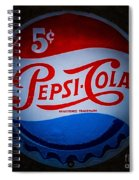 Pepsi Cap Sign Spiral Notebook