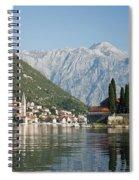Perast In Kotor Bay Montenegro Spiral Notebook