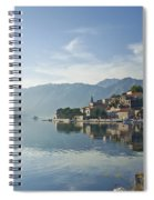 Perast Village In The Bay Of Kotor In Montenegro  Spiral Notebook