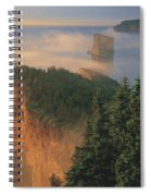 Perce Rock And The Three Sisters In Fog Spiral Notebook