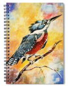 Perched Kingfisher Spiral Notebook