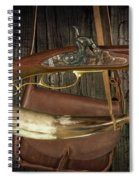 Percussion Cap And Ball Rifle With Powder Horn And Possibles Bag Spiral Notebook