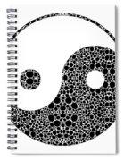 Perfect Balance 1 - Yin And Yang Stone Rock'd Art By Sharon Cummings Spiral Notebook