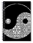 Perfect Balance 2 - Yin And Yang Stone Rock'd Art By Sharon Cummings Spiral Notebook