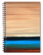 Perfect Calm - Abstract Earth Tone Landscape Blue Spiral Notebook