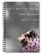 Perfect Moment Spiral Notebook