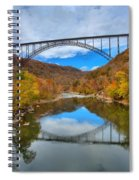 Perfect Reflections Of The New River Gorge Bridge Spiral Notebook