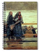 Perils Of The Sea 1881 Spiral Notebook