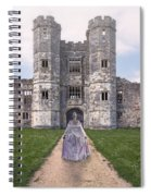 Period Lady In Front Of A Castle Spiral Notebook