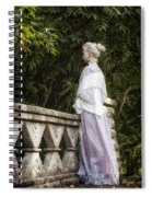 Period Lady On Bridge Spiral Notebook