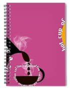 Perk Up With A Cup Of Coffee 10 Spiral Notebook