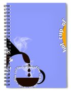 Perk Up With A Cup Of Coffee 11 Spiral Notebook