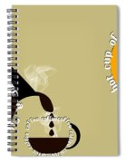 Perk Up With A Cup Of Coffee 12 Spiral Notebook