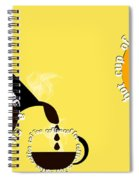 Perk Up With A Cup Of Coffee 13 Spiral Notebook