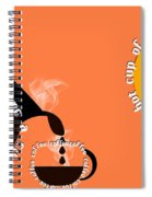 Perk Up With A Cup Of Coffee 14 Spiral Notebook