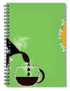 Perk Up With A Cup Of Coffee 15 Spiral Notebook