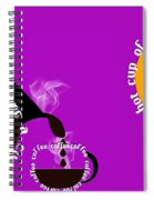 Perk Up With A Cup Of Coffee 8 Spiral Notebook